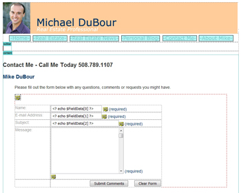 Mike DuBour: Contact Form