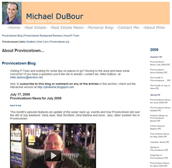 Mike DuBour: Provincetown Blog